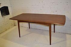 STUNNING VINTAGE RICHARD HORNBY TEAK SLAB TOP DINING TABLE / DESK - DANISH in Antiques   eBay