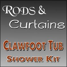 Clawfoot Tub Shower Kit Hookless Curtain Rods Rod