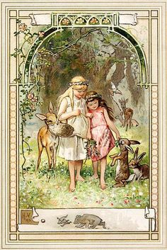 hermann vogel's snow white and rose red. yay fairy tales!!
