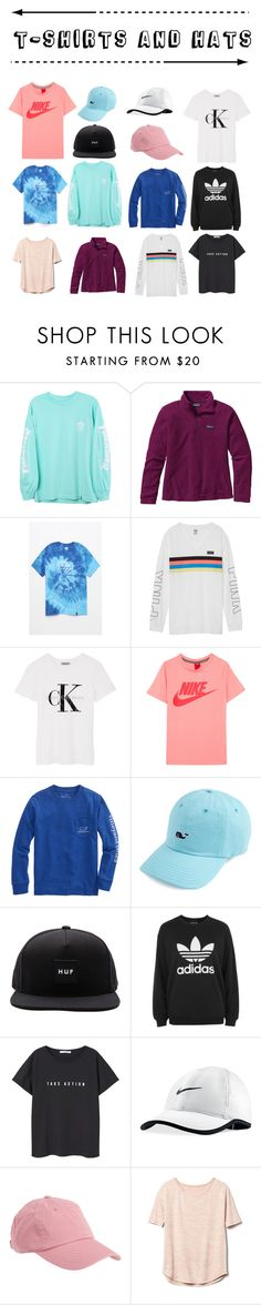 """""""T-shirts and Hats"""" by ale-needam on Polyvore featuring HUF, Patagonia, Victoria's Secret, Calvin Klein, NIKE, adidas, MANGO, Aéropostale and Gap"""