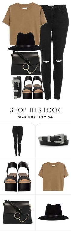 """Untitled #3615"" by maddie1128 ❤ liked on Polyvore featuring Topshop, Yves Saint Laurent, Madewell, Chloé and rag & bone"