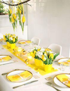 déco table - décoration de table: jaune printemps, une table ...
