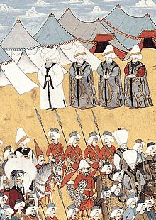Ottomans : 17th and 18th centuries and Westernization- Surname-i Vehbi is a book about a festival in early 18th century by Levni 1721-30. - Topkapi