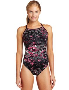 Speedo Womens Off the Grid Endurance+ Flyback Performance Swimsuit
