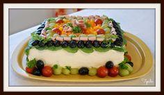Tipulassa: Kinkkuvoileipäkakku Sushi, Birthday Cake, Ethnic Recipes, Desserts, Food, Tailgate Desserts, Deserts, Birthday Cakes, Essen