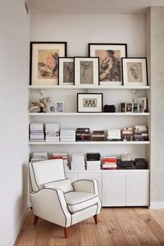 9 Delicious Tips AND Tricks: Minimalist Living Room Boho Interior Design minimalist bedroom decor window.Minimalist Living Room Ideas Tvs minimalist home office study.Minimalist Home Decorating Glasses. Bookshelves Built In, Built Ins, Bookcases, Book Shelves, Corner Shelves, Apartment Bookshelves, Diy Built In Shelves, Frame Shelf, Tv Shelf