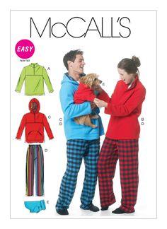 cff66d650cf M6252 | Misses'/Men's Jacket, Hoodies, Pants and Dog Coat Sewing Pattern