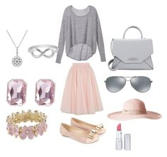 """""""Untitled #11"""" by arshie1171 on Polyvore featuring Ted Baker, Victoria's Secret, Monsoon, Givenchy, Ray-Ban, Badgley Mischka, Carolee, Jewel Exclusive, Marchesa and HoneyBee Gardens"""
