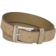 Stacy Adams Men's 32mm Genuine Leather Belt With Perforated Tip and... (€19) ❤ liked on Polyvore featuring men's fashion, men's accessories, men's belts, mens suede belt and mens belts
