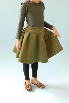 Girls' scuba green |viviana| skirt$68