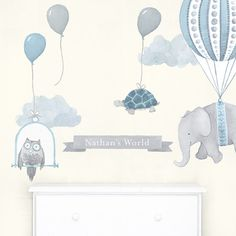 Personalized Nursery Daydreams - fabric wall decal
