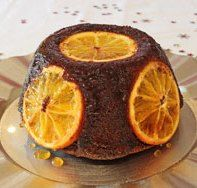 Chocolate and orange is a tried and tested combo, and one that's often enjoyed at Christmas. Try this chocolate orange Christmas pudding with orange slices.