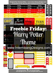 Free Printable Harry Potter Stickers from Interrobang Designs