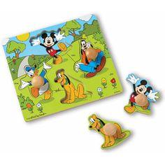 Melissa & Doug Disney Baby Disney Mickey Mouse and Friends Wooden Jumbo Knob Puzzle