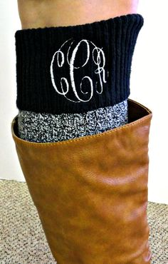 Hey, I found this really awesome Etsy listing at http://www.etsy.com/listing/122733866/monogrammed-boot-socks