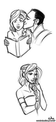 Sigyn & Loki- Logyn- Give you wife a smooch while she's reading! How sweet! Loki Marvel, Loki Thor, Tom Hiddleston Loki, Marvel Comics, Marvel Funny, Marvel Memes, Loki And Sigyn, Loki Laufeyson, Loki God Of Mischief