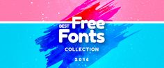 Best Free Fonts in 2016 Collection on Behance