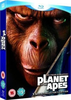 Planet Of The Apes Collection 5 Blu-Ray Edizione: Regno Unito Reino Unido Blu-ray Planet Of The Apes, Dolby Digital, The Collector, Slipcovers, Science Fiction, Evolution, Movie Tv, Planets, Shopping