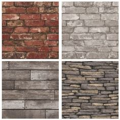 Realistic rustic wallpaper for any room of your house Choose from various realistic effects such as classic red brick silver grey brick natural stone