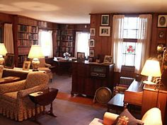 Eleanor Roosevelt's parlor at Val-Kill.
