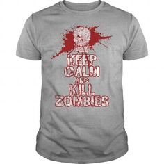Awesome Tee Keep calm and kill zombies horror gaming shirt Shirts & Tees