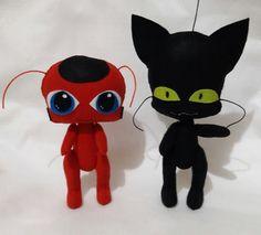 Resultado de imagem para cat noir feltro