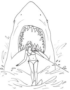 great white shark coloring pages online | 73 Best Shark Coloring Pages images | Shark coloring pages ...