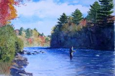 watercolor fly fishing - Google Search