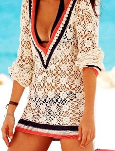 beach crochet cover-up. Love these so much, so many different styles to chose from and an essential part of any beach goers wardrobe.
