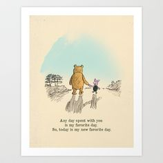 I love being with you Art Print by Budi Satria Kwan - $19.97