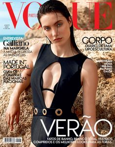 Model @ Matilda Lowther by Frederico Martins for Vogue Portugal, July 2015 Vogue Covers, Vogue Magazine Covers, Fashion Magazine Cover, Fashion Cover, Black Swimsuit, Swimsuit Cover, Matilda, Bikinis, Swimsuits