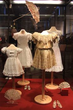 Dresses worn by the Grand Duchesses Olga, Tatiana, Marie and Anastasia. The Hermitage, St. Petersburg.