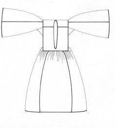 Αχνάρι πουκαμίσου από τη φορεσιά της Αστυπάλαιας, Δωδεκάνησα. Αρχείο Πελοποννησιακού Λαογραφικού Ιδρύματος, Ναύπλιο. Pattern of a chemise of the costume of Astypalaia, Dodecanese. Peloponnesian Folklore Foundation Archive