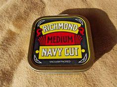 RICHMOND MEDIUM NAVY CUT tin of vintage pipe tobacco | eBay