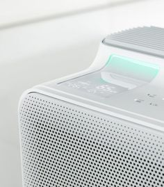 Check this out on leManoosh.com: #Air purifier #Grey #Grid #Minimalist #Parametric #Plastic #Speakers #Vent #White