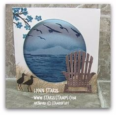 Tri fold card High Tide and Colorful Seasons stamp set