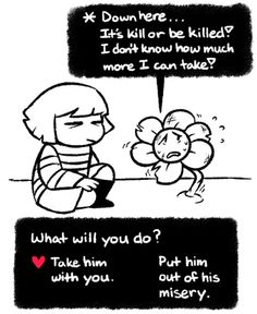 #Undertale #UnderfellAU Underfell!Flowey is a cinnamon roll and so cute. My heart cant handle this.