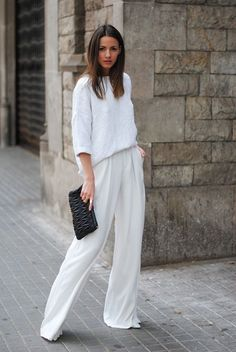 Look Good Casual Chic Spring Outfits 18 White Fashion, Look Fashion, Net Fashion, Fashion Mode, Fashion Trends, Street Fashion, Womens Fashion, Couture Fashion, Fashion Ideas