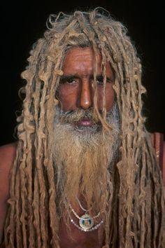 #dreads, #Dreadlocks. Looks like a yogi in Allahabad, India,Steve McCurry  River of Life
