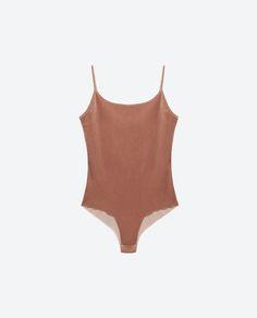 Image 8 of VELVET BODYSUIT from Zara