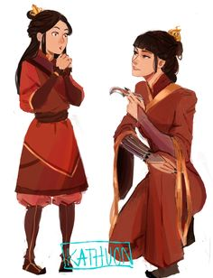 Zuko's kiddo ( izumi ) with said kiddo's mother, mai!