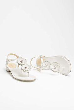 Sandals, calfskin-white - CHANEL