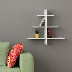 Agac Wall Shelf - White