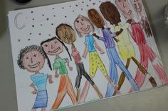 2nd Grade Art Lesson - Creating Portraits that Tell a Story, Studying Portraits to Learn a Story, Literacy Core Connection, Drawing Techniques, Multiple Art Standards, Multiple Activities