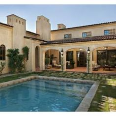 If I were to turn the garage into a covered patio, poolside - these gradual arches