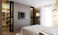 Trendy Master Bedroom Closet Behind Bed Storage 34 Ideas Bedroom Closet Doors, Bedroom Closet Design, Bedroom Wardrobe, Modern Bedroom Design, Master Bedroom Design, Bedroom Storage, Bed Storage, Closet Wall, Dream Rooms