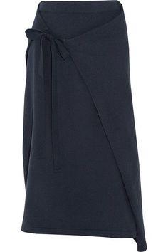 Joseph | Wrap-effect cotton-jersey midi skirt | NET-A-PORTER.COM #ReflectingFashion #Robinality #itsawrap