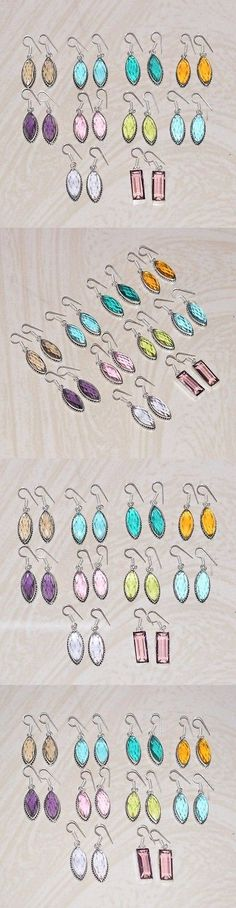 Gemstone 14884: 10Pcs Wholesale Lot!! 925 Silver Plated Golden Topaz And Mix Gemstone Earrings -> BUY IT NOW ONLY: $33 on eBay!