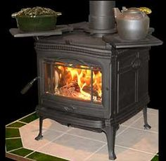 Wood Burning Stove with warming shelves...want these
