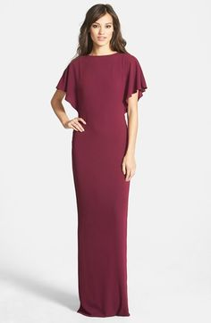 Halston Heritage Crepe Gown available at #Nordstrom